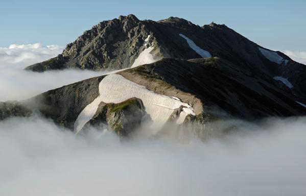 夏の立山三山