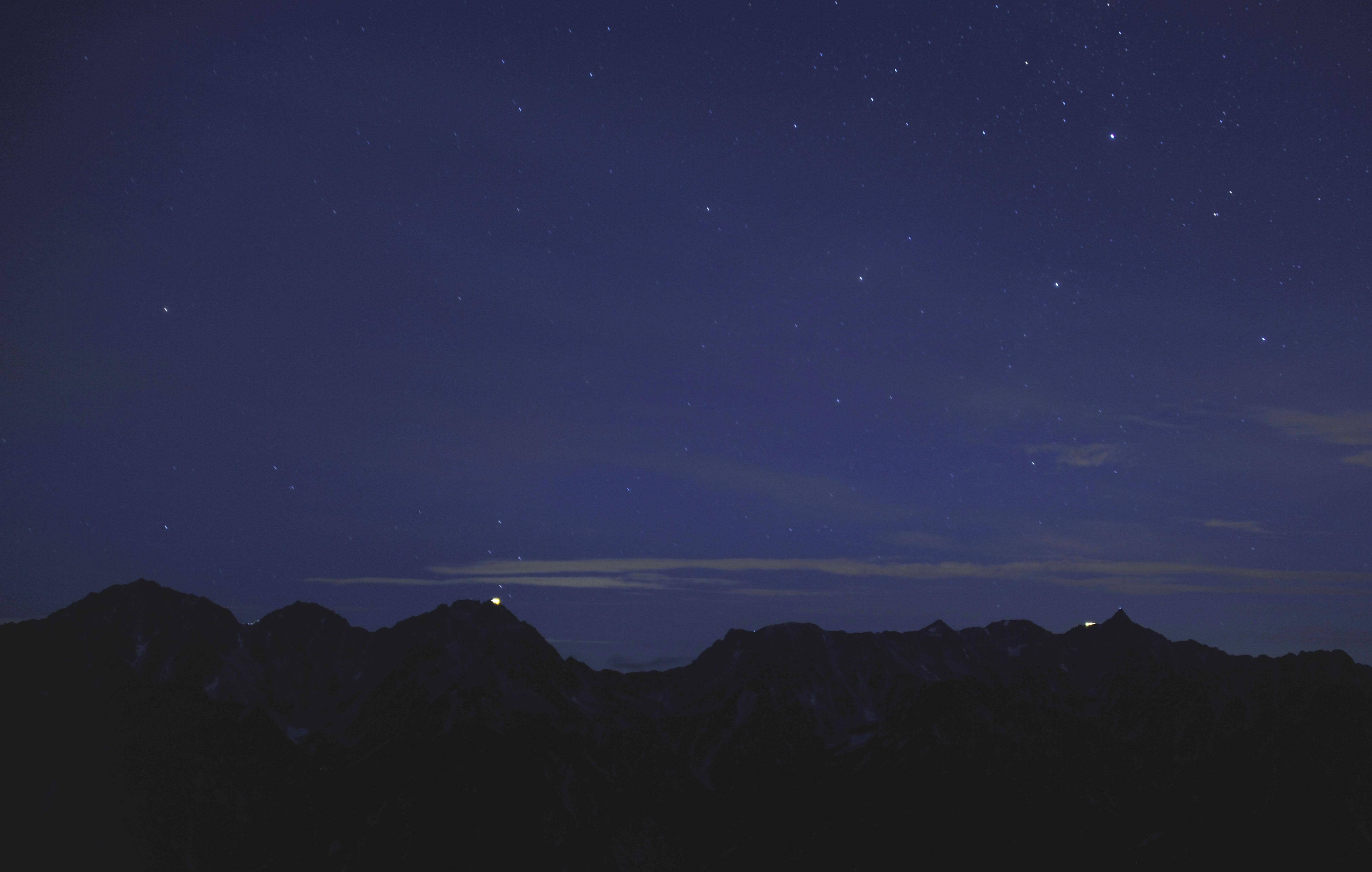 穂高連峰夜景