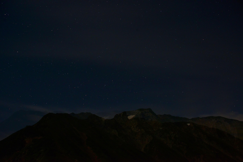 五竜岳星空